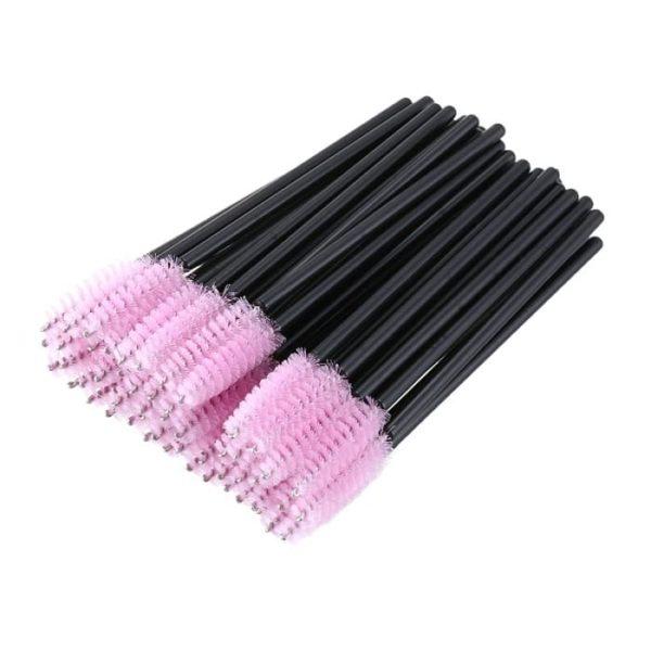 Одноразовые спиралевидные щёточки для бровей и ресниц. Цвет - бирюзовый