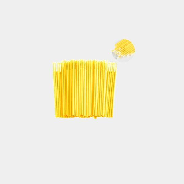 Микробраши 2мм. 100шт в уп. Цвет - жёлтый